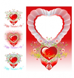set of congratulations valentines day vector image