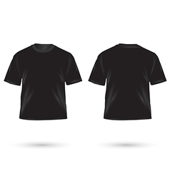 t shirt black vector image