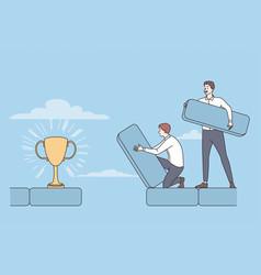 teamwork success achieving goal concept vector image