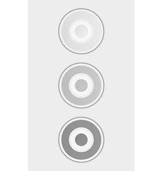 Three gray badges or buttons vector