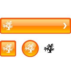 Tropical button set vector