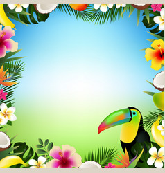 tropical frame vector image