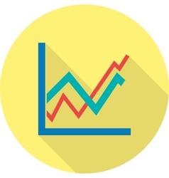 Upward trend in graph vector