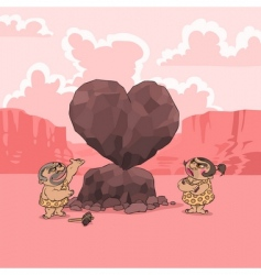 valentines day stone age vector image