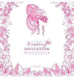 wedding invitation zentangle vector image