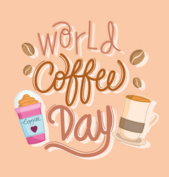 World coffee day banner vector