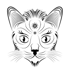 abstract cat head vector image