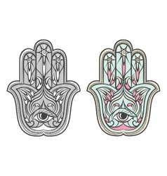 Hamsa Fatima hand amulet symbol set vector image vector image