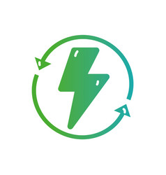 line hazard energy with arrows in circle loading vector image