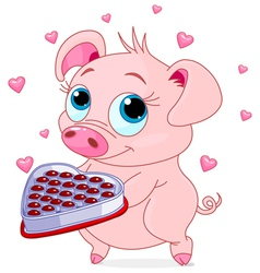 Love piglet vector image vector image