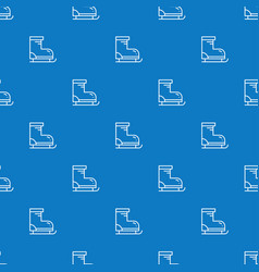 seamless pattern with figure skates background vector image
