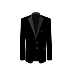 Black man suit on white background business suit vector