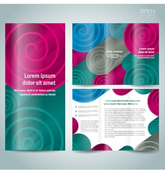 brochure design template spiral vector image vector image