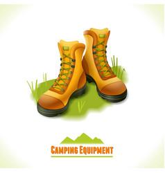 Camping symbol boots vector image