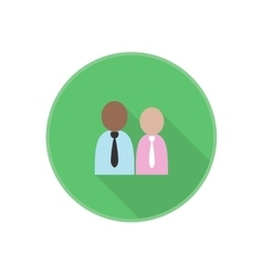 flat icon with man employees silhouette vector image vector image
