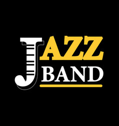 jazz concert logo label with text isolated on vector image vector image
