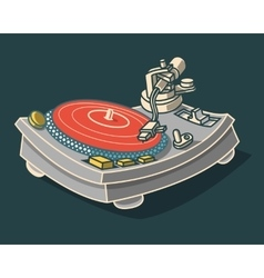 Turntable Graphic vector image
