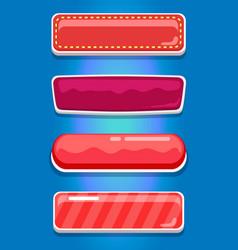 creative ui main menu interface kit set vector image