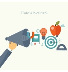 Distance educationlearning online courses and vector