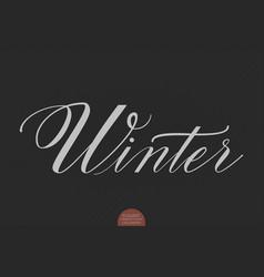 Hand drawn lettering winter elegant vector