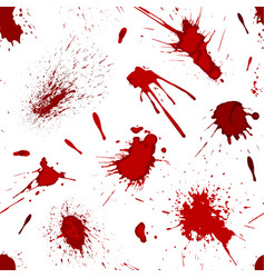 red blood or paint splatters splash spot seamless vector image