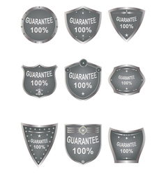 Shields set elements for design vector image vector image