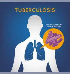 tuberculosis logo icon vector image vector image