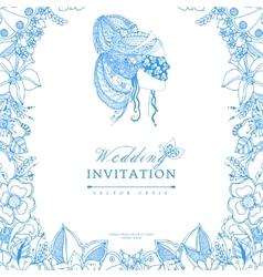 wedding invitation zentangl vector image