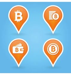 bitcoin pointers vector image vector image