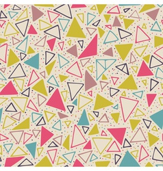Geometric pattern with triangles and dots vector image vector image