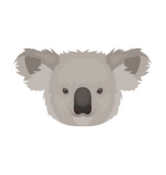 koala icon in cartoon style isolated on white vector image vector image