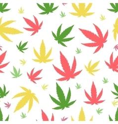 Marijuana background set vector image