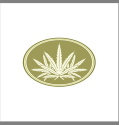 marijuana leaf emblem logo vector image