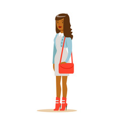 young african american woman in fashionable vector image vector image