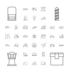 37 transport icons vector