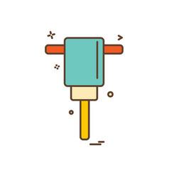 air hammer icon design vector image