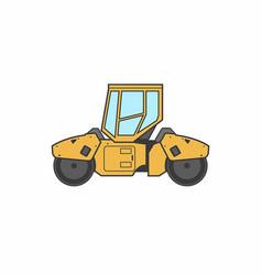 Asphalt paver icon vector
