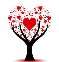 beautiful love tree vector image