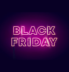 black friday neon light vector image