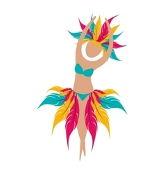 brazil symbols design vector image