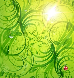 Bright Green Summer Design vector image