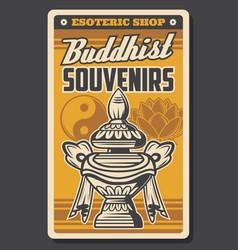 Buddhism religion yin yang treasure vase lotus vector