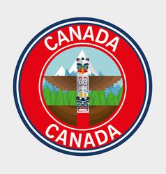 Canada quality seal icon vector