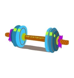 Cartoon dumbbells flat icon vector image