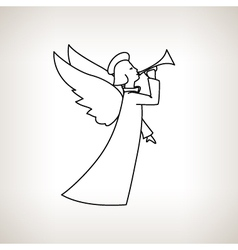 Christmas Angel on a Light Background vector image