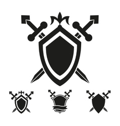 Coat of arms knight shield templates vector image