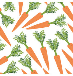 Colorful background with pattern of carrots vector