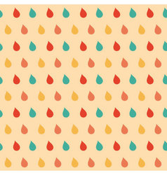 Colourful drops seamless pattern vector