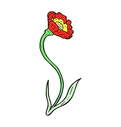 comic cartoon flower vector image