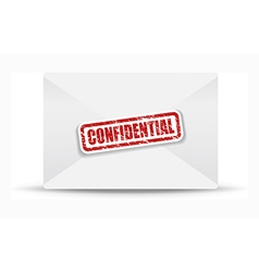 confidential white closed envelope vector image